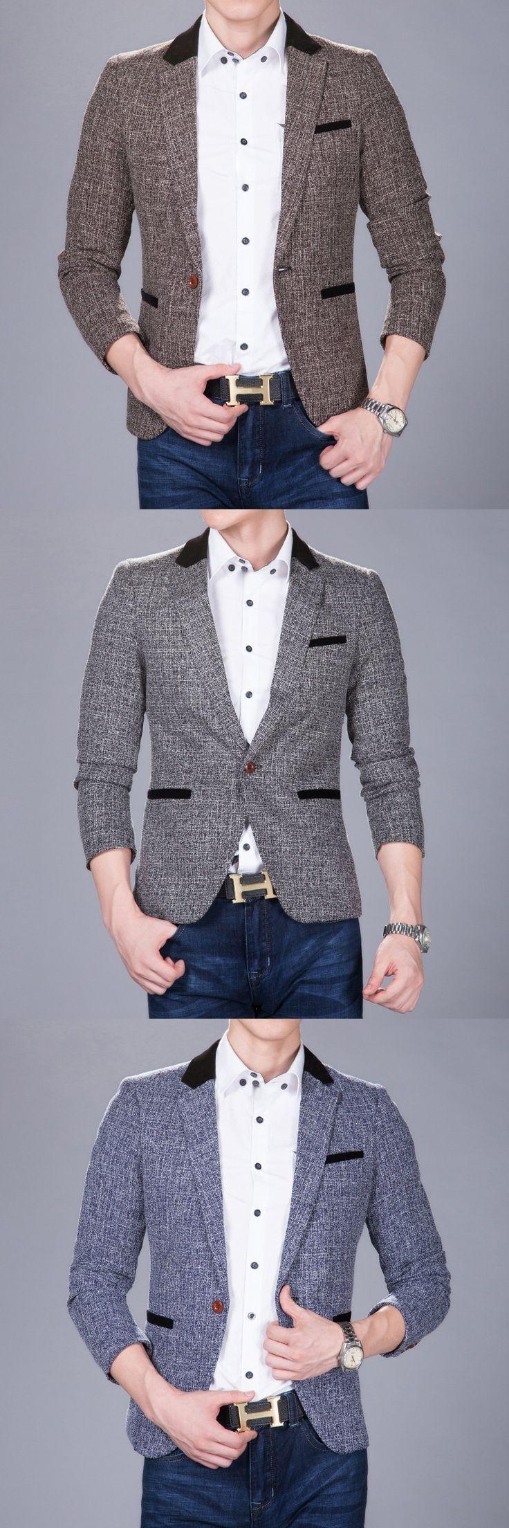 New Fashion Hot Sale Men's Blazer Mixed Colors Men Blazers Slim Casual Blazer Outerwear Coats Men Clothes High Quality Fabric