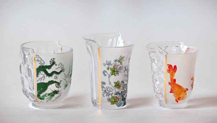Set of 3 Glasses from the Hybrid Collection, designed by CTRLZAK Studio for Seletti. Get The Originals at www.2ndfloor.gr