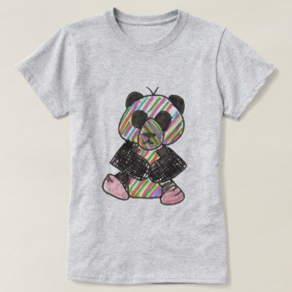 original art of an LGBT PANDA T-Shirt - drawing sketch design graphic draw personalize