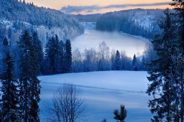 winter landscape Finland   Inspire me.......   Pinterest