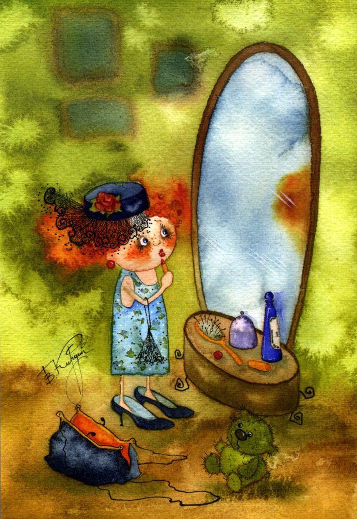 Недавно я познакомилась с творчеством замечательной художницы Виктории Кирдий. Я была просто очарована! На ее чудесные жизнерадостные акварели невозможно смотреть без улыбки. Столько позитива, добра и света в ее работах!... Сама Виктория родом из Иркутска, сейчас живет и творит в Москве. Уже с детства она любила рисовать, не обходя стороной книги, парты, автобусные сиденья и прочую общественную собственнос…