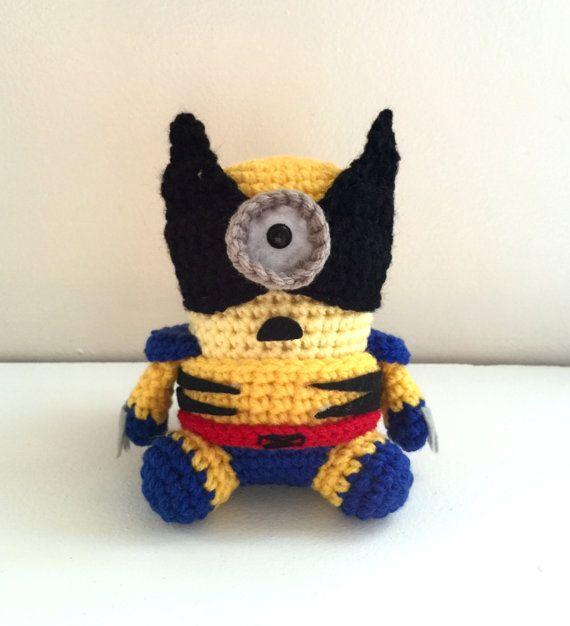 Amigurumi Minion Superheroes : Wolverine Minion PDF Pattern Crochet for Amigurumi Doll ...