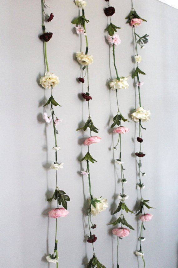 Hanging Flower Backdrop Wedding Flower Garland Wedding