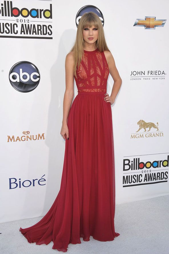 Taylor Swift Red Prom Dress Billboard Music Awards 2012 Gown