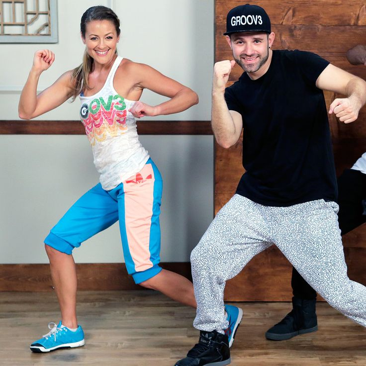 Work your legs with some fun dance moves! You won't even realize your doing squats.