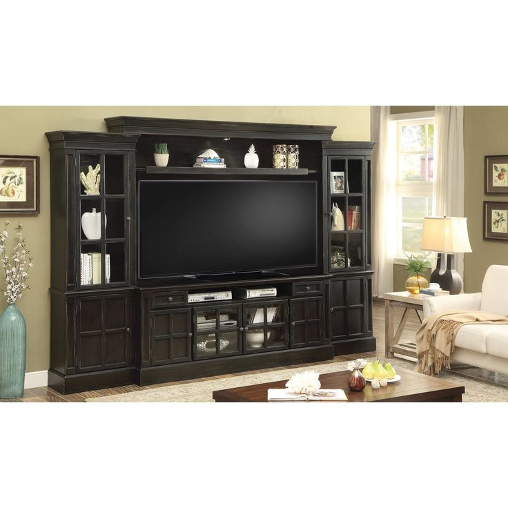 Parker House Concord 72 Inch TV Console Entertainment Wall PH-CON172-4