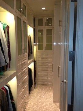 Best 25 narrow closet ideas on pinterest master closet for Long narrow basement design solution