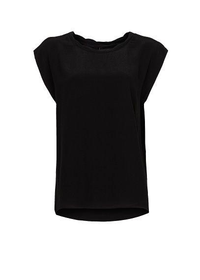 MANGO - Pleated neck blouse