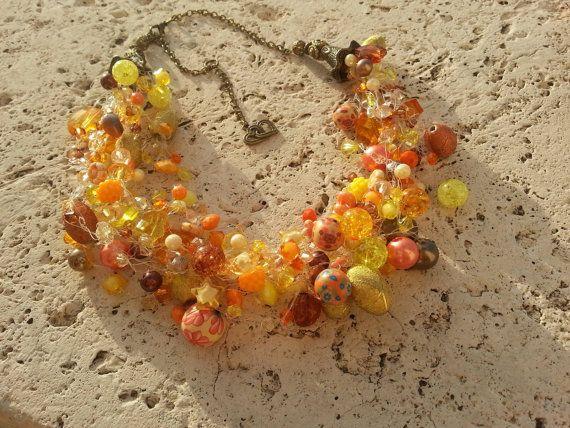 Sunlight  crochet necklace with acrilic di creativelyparlando