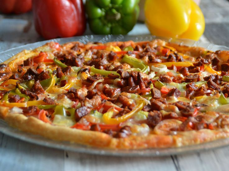 Découvrez la recette Tarte aux trois poivrons & chorizo sur cuisineactuelle.fr.