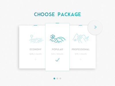 """Choose package"" icons"