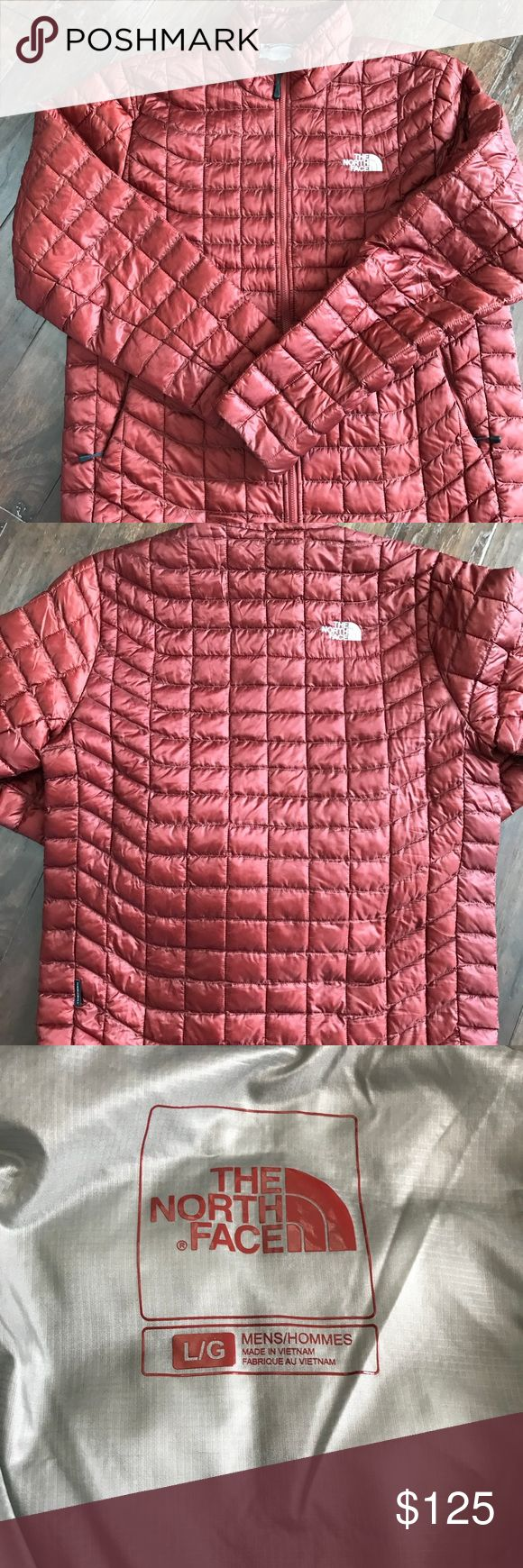 NWOT Men's North Face Thermoball Jacket Brand new without tags. Took the tags off and decided to not keep it.   Burgundy color. Size large   Smoke free home The North Face Jackets & Coats Puffers