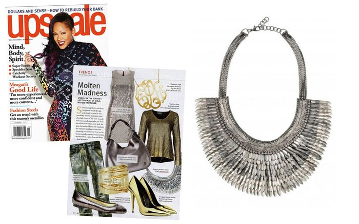 Swooning over the Pegasus Necklace – Silver by Stella & Dot featured in Upscale Magazine