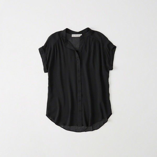 Black Short Sleeve Blouse Photo Album - Reikian