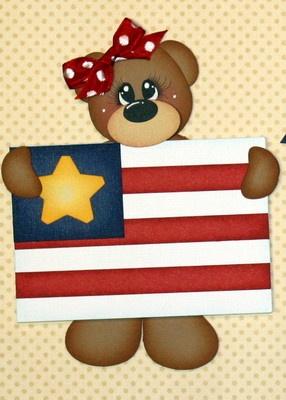Cute Patriotic Bear Paper piecing set. http://www.ebay.com/itm/MOMZ-Premade-2-pc-Patriotic-Paper-Piecing-Set-by-Julie-Independence-Day-Bears-/290727720221?pt=LH_DefaultDomain_0=item43b0b8f51d#ht_4550wt_1205