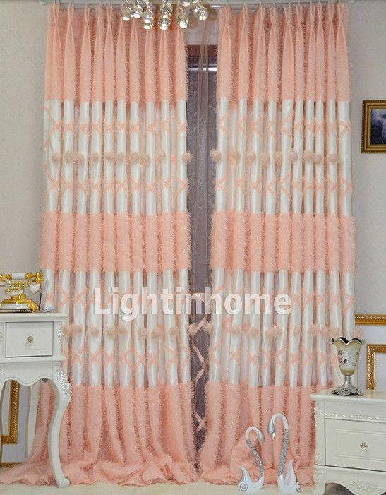 Romantic Girls Room Kids Room Peach Pink Princess Curtains