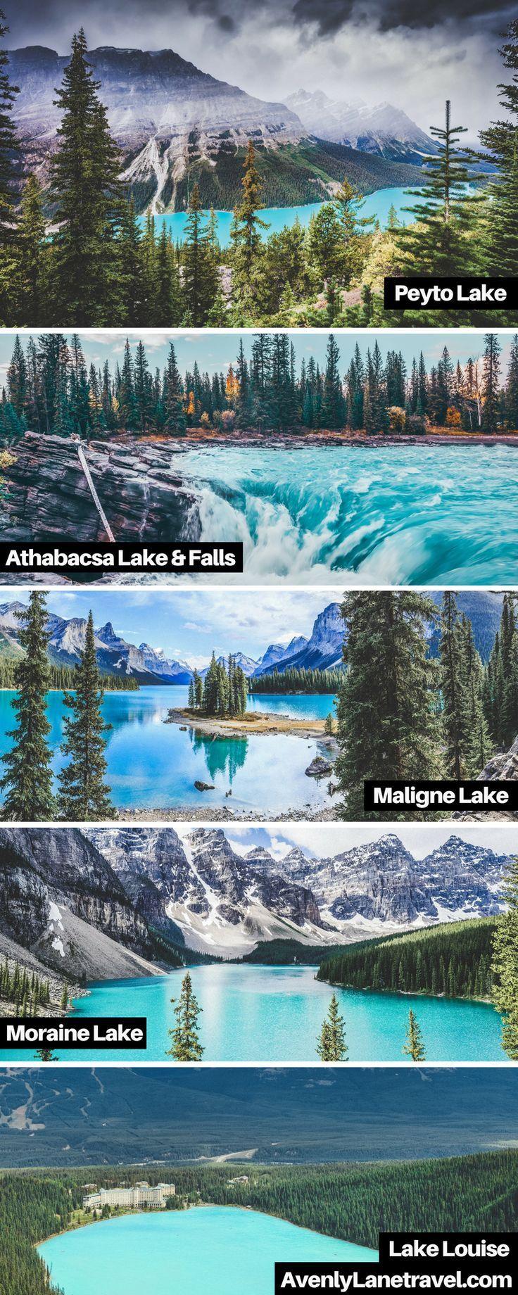 Unglaubliche türkisblaue Seen in Alberta, Kanada! Schmelzende Gletscher können …
