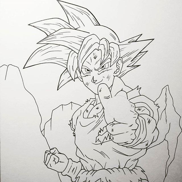 Resultado De Imagen Para Goku Dios Rojo Vs Bills Dibujos Lapiz
