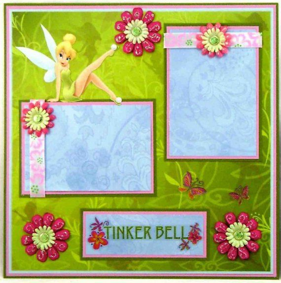 Disney scrapbook layoutTinker Bell scrapbook layout