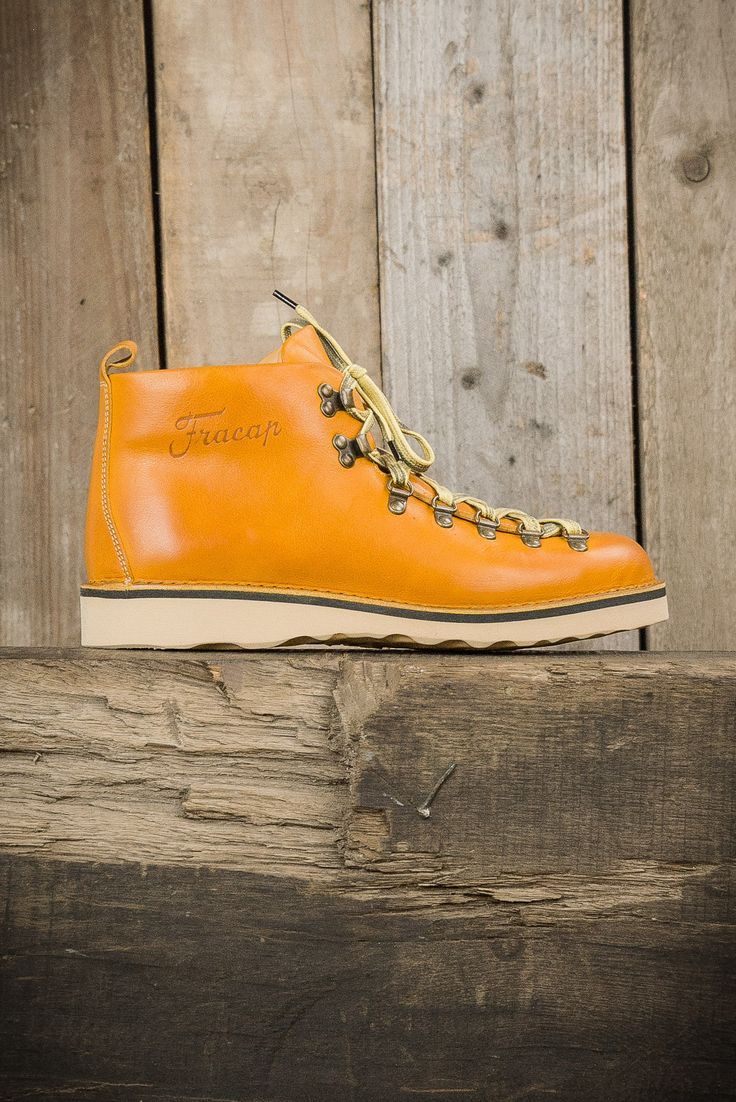 Fracap M120 Scarponcini Natural Vibram Sole Boots - Yellow - Footwear - The Priory - 1