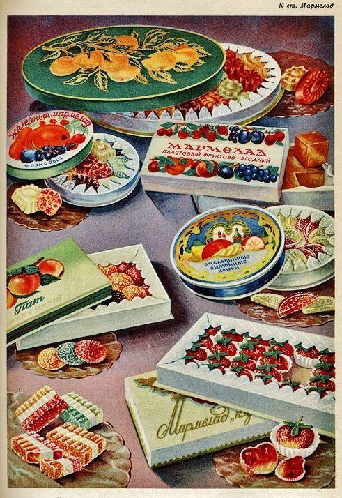 Soviet fruit jellies.
