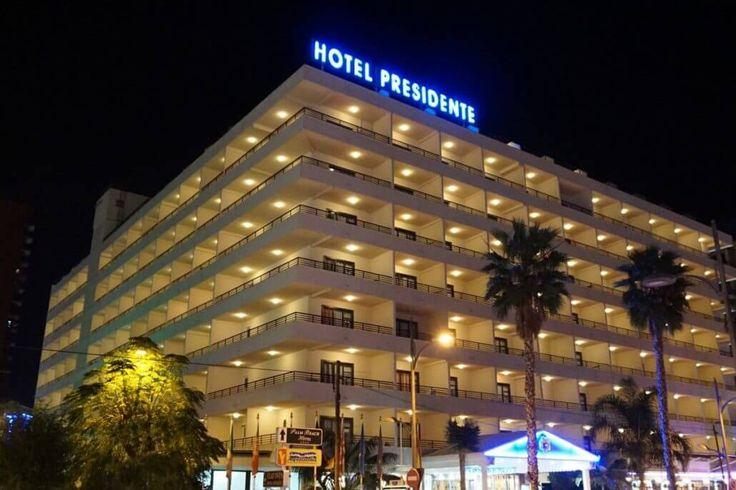 Hotel Presidente at Night in Benidorm