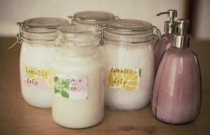 vloeibare zeep maken van klotten