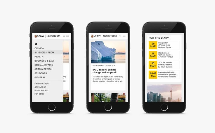 Made Somewhere- UNSW Newsroom Website Mobile