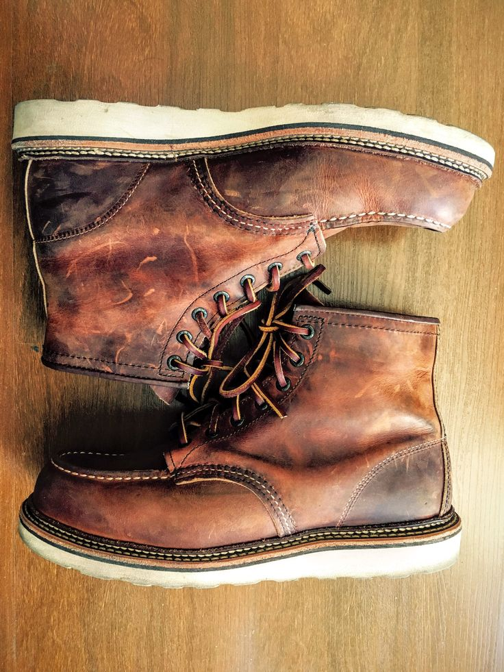 """Red Wing Heritage 1907 Moc 6"""" Boot  - Color: Copper Rough and Tough"""