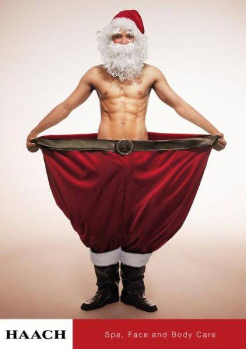 Creative Christmas Ads And Posters - brilliant! Who doesn't want to lose weight after the holidays?