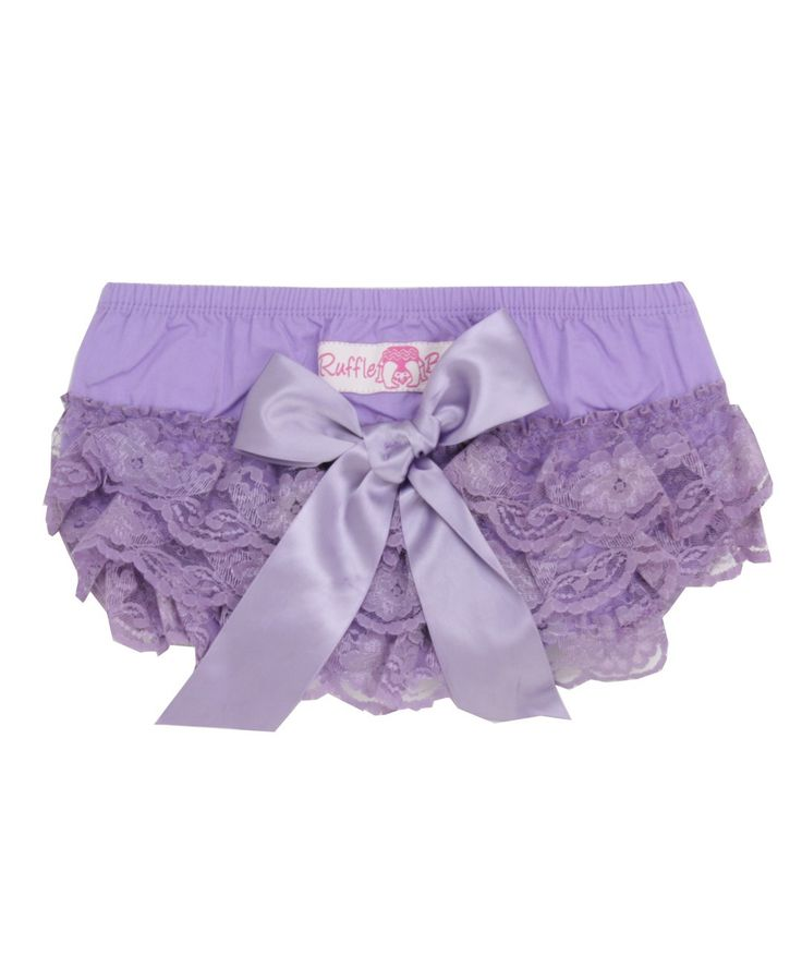 Rufflebutts Special Edition Lavender Lace Woven Bloomer ...