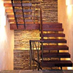 This is the plan for our staircase!  Should be simple, right?  Just rip out the old one, fix the walls, add some stone, add lighting, find the perfect staircase stringers and reclaimed lumber, etc......  Yeah.  Easy.  :-/