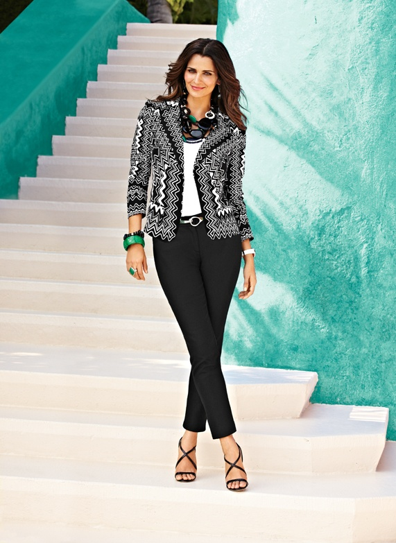 Bold Black & White Blazer #chicos