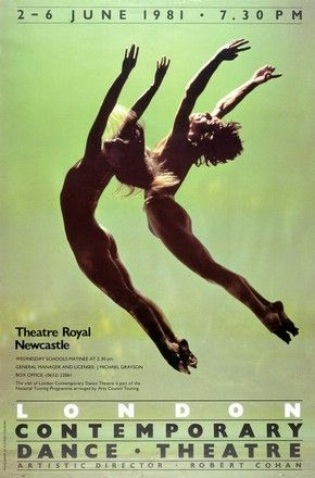 Patrick again.  Poster for London Contemporary Dance Theatre, photograph by Anthony Crickmay, England, 1981