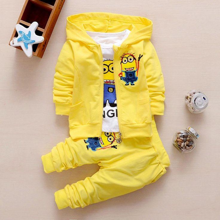 $12.69 (Buy here: https://alitems.com/g/1e8d114494ebda23ff8b16525dc3e8/?i=5&ulp=https%3A%2F%2Fwww.aliexpress.com%2Fitem%2FBoys-Clothing-Set-Despicable-Me-Cotton-Minion-Clothing-Sets-Unisex-Sport-suit-3pcs-jacket-t-shirt%2F32711586288.html ) Boys Clothing Set Despicable Me Cotton Minion Clothing Sets Unisex Sport suit 3pcs Coat+T shirt+pants baby boys girls clothes for just $12.69
