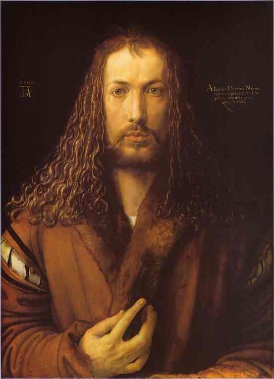 Acheter Tableau 'Autoportrait à 28 ans' de Albrecht Durer - Achat d'une reproduction sur toile peinte à la main , Reproduction peinture, copie de tableau, reproduction d'oeuvres d'art sur toile