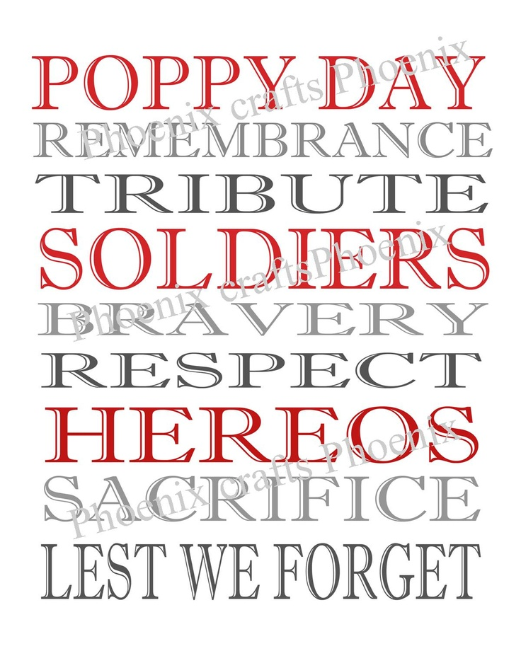 POPPY DAY (although I wear my poppy for weeks and am pleased when I see others doing the same)
