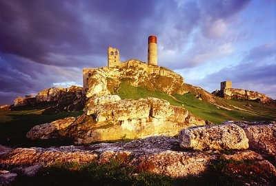 ruins of the Olsztyn castle. Polish Jurassic Highland.
