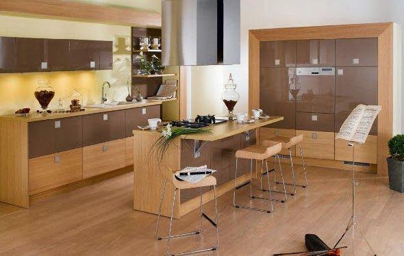 Diseño-de-moderna-isla-de-cocina-de-madera.jpg (590×374)