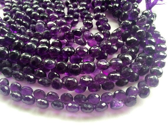 Amethyst Faceted  Onion Beads Amethyst Briolettes by gemsforjewels