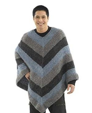 The ultimate in bad idea knitting.....Man Ponchos.....