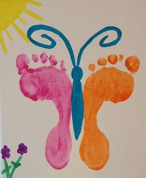 Butterfly Feet Art
