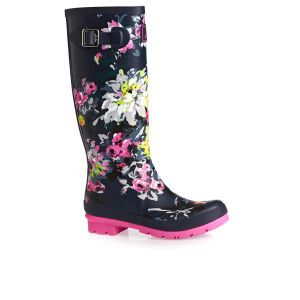 Joules Wellington Boots - Joules Printed Tall Welly  - Multi Colour