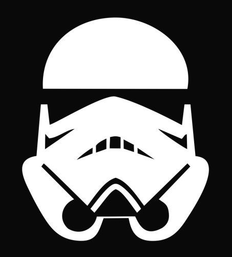 """Storm Trooper"" 4"" Vinyl Sticker Available in Multiple Colors"