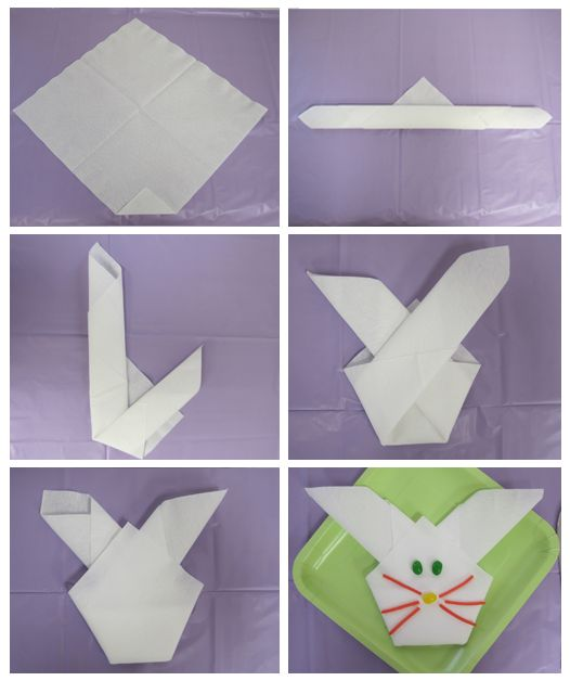How To Make Table Napkin Designs pinwheel napkin fold Napkin Folding Instructions Fun With Folds Easy Bunny Napkins Party People