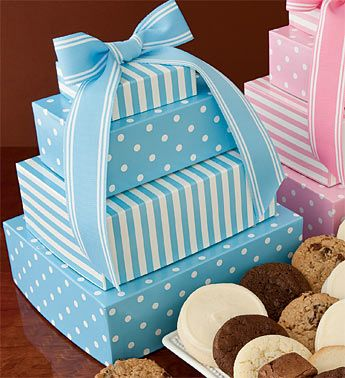 Cheryl S Welcome Baby Boy Gift Tower