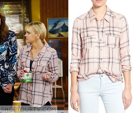 Mom: Season 3 Episode 7 Christy's Pink Plaid Shirt