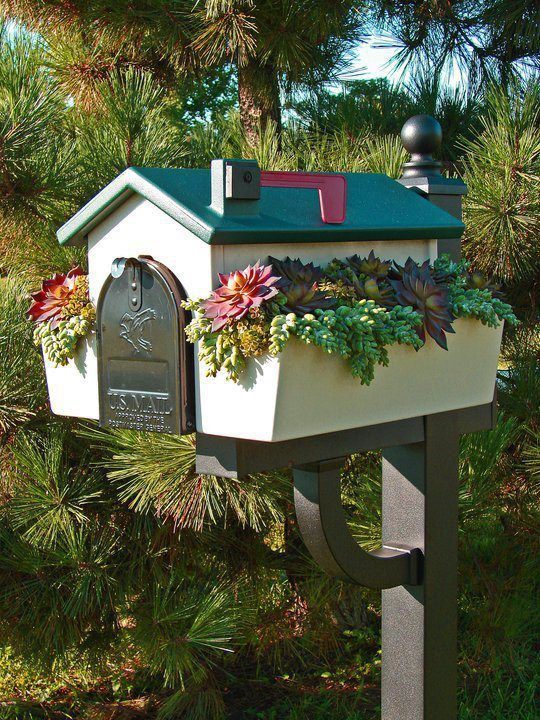 Little window boxes on a mailbox