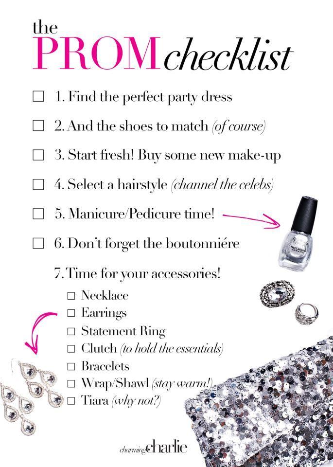 The Prom Checklist