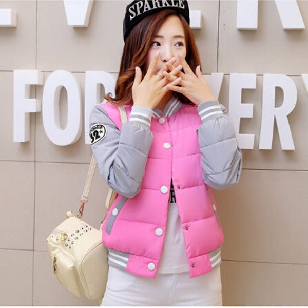$49.46 (Buy here: https://alitems.com/g/1e8d114494ebda23ff8b16525dc3e8/?i=5&ulp=https%3A%2F%2Fwww.aliexpress.com%2Fitem%2F2016-New-short-jackets-for-women-baseball-clothes-large-size-women-s-winter-jacket-stitching-cotton%2F32575708563.html ) 2016 New short jackets for women baseball clothes large size women's winter jacket stitching cotton coat female parka Q742 for just $49.46
